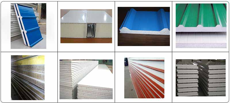 Rock-Wool-Color-Steel-Sandwich-Panel-Machine-Application