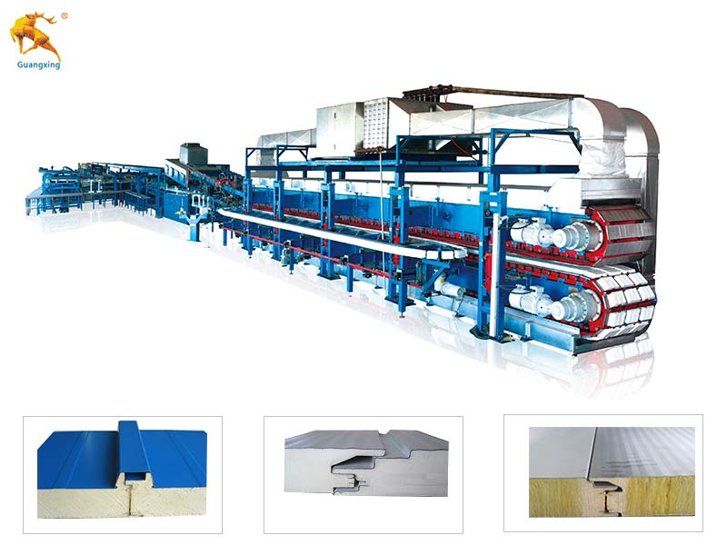 Continuous PU/PUR/PIR Sandwich Panel Production Line