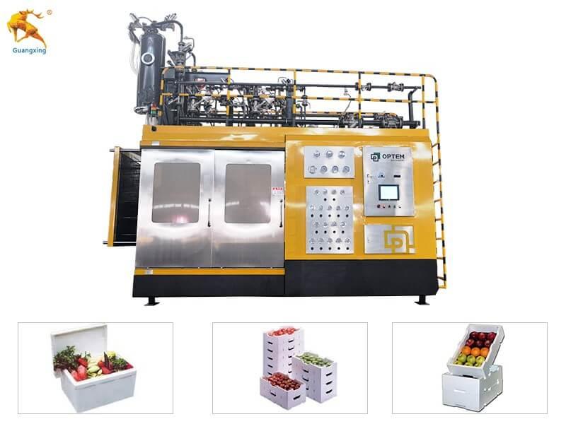 الستايروفوم شكل آلة صب لمربع الفاكهة