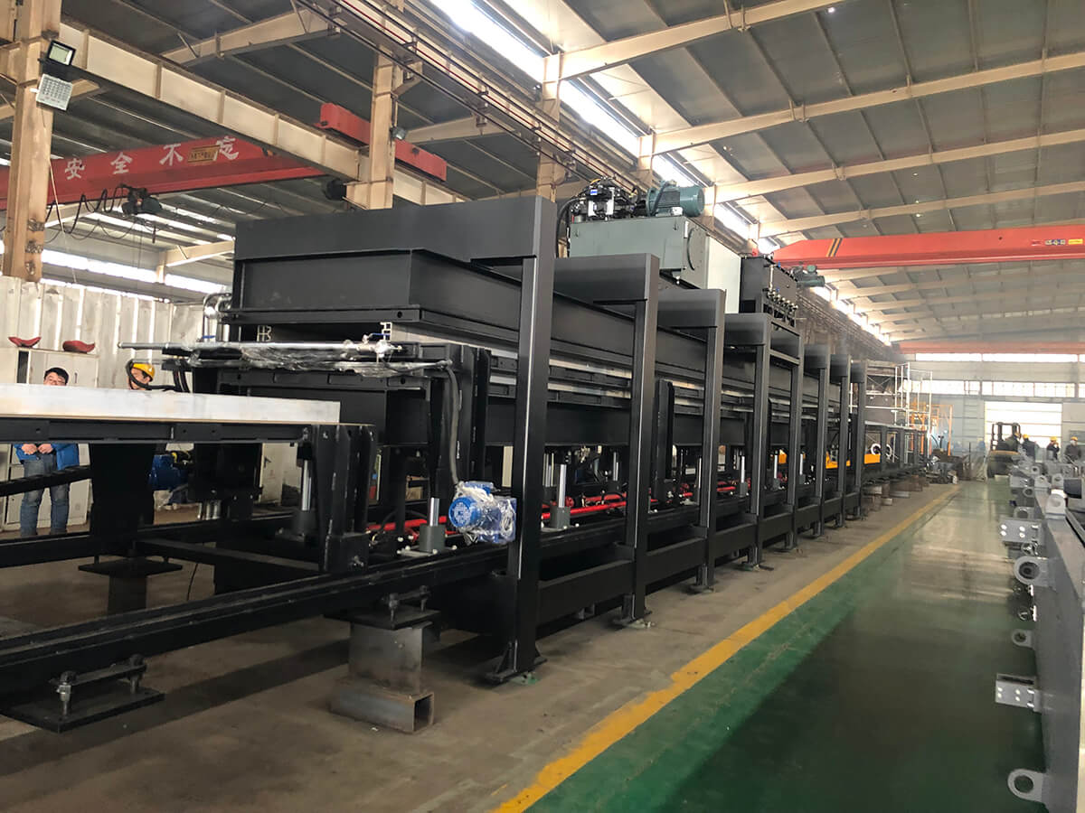 pu sandwich panel-production line
