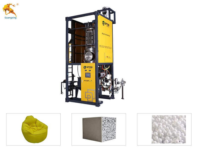 Vacuum styrofoam Pre expander