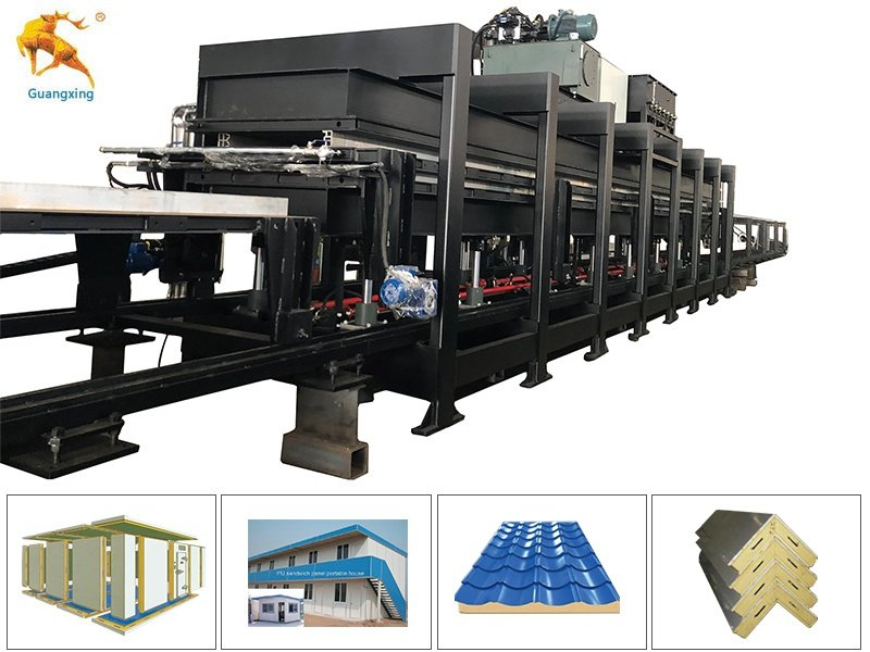 Discontinuous PU/PIR Sandwich Panel Machine